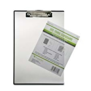 Baumgartens BAUTA1611 Double Panel See-Thru Clipboard- 23cm .x13-.130cm .- Clear
