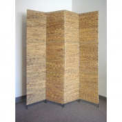 Proman Products FS16668 Water Hyacinth Deocoration Folding Screen
