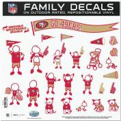 SAN FRANCISCO 49ERS NFL FAMILY CAR DECAL SET