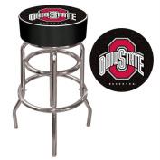 Ohio State University Logo Padded Bar Stool - Black