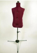 FAMILY DRESSFORM FM-C Family Adjustable Child-size Maroon Nylon Mannequin Dress Form