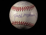 Powers Collectibles 22976 Signed Marlins Florida -2003 World Series Champions World Series Baseball in Blue Ink by the 2003 World Series Champions -25 Signatures in All