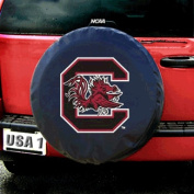 Fremont Die Fmt5TC-SCG-58460 South Carolina Gamecocks NCAA Spare Tyre Cover- Black
