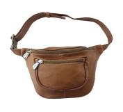 Piel Leather 8825 Travelers Waist Bag - Saddle