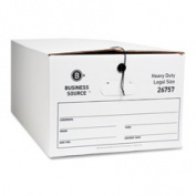 Business Source BSN26757 Storage Box- Legal- 38cm .x60cm .x25cm .- 12-CT- White