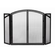 Minuteman X800270 Black Traditional Three-Panel Door Fireplace Screen