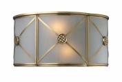Elk Lighting 22000-2 Preston 2-Light Sconce In Brushed Brass