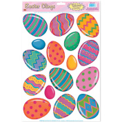 Beistle - 44133 - Color Bright Egg Clings- Pack of 12
