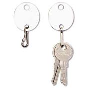 Steelmaster 201800706 Oval Snap-Hook Key Tags Plastic 1.5 x 1.5 White 20-Pack