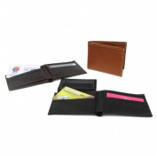Piel Leather 9052 Bi-Fold Wallet- Saddle