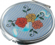 Visol VAC110 Bouquet Stainless Steel Compact Mirror