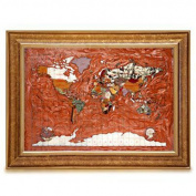 Alexander Kalifano MAPC-CPR Gemstone Globe Map with Contempo Frame - Copper Amber