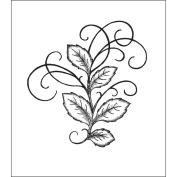 Heartfelt Creations 120753 Heartfelt Creations Cling Rubber Stamp Set 13cm . x 17cm . -Bella Rose Leaves