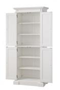 Home Styles 5004-692 Americana Pantry Storage Cabinet, White Finish