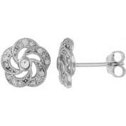 Doma Jewellery DJS02098 Sterling Silver (Rhodium Plated) Earring with CZ