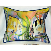 Betsy Drake HJ305 Angel Fish Art Only Pillow 15x22