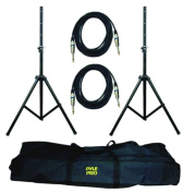 Pyle Pro Speaker Stand and .75 Cable Kit - PMDK102