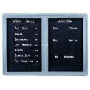 Ghent OVG2-BBK 34 in. x 47 in. 2-Door Ovation Letterboard Black - Gray Frame