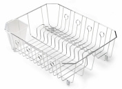 Rubbermaid Large Chrome Dish Drainer 6032ARCHROM - Pack of 6
