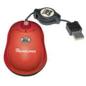 PC Treasures 07217 Mighty Mini Mouse- Retractable-red