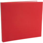 Colorbok 120067 Colorbok Fabric Albums 30cm . x 30cm . -Red