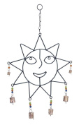 Woodland Import 26731 Crafted Wind Chime with Sculpted Sun Face
