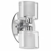 Dainolite 809-2W-PC 2-Light Vanity with Oval Frosted Glass