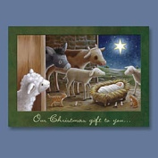 Abbey Press 53334T Animals & Manger Christmas Cards