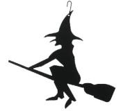 Village Wrought Iron HOS-26 Witch-Halloween Silhouette Decoration
