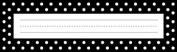 Barker Creek LL-1405 Black and White Dot Desk Tag