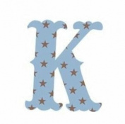 Wallcandy Arts sk Luv Letters Stars K in Blue - Pack of 2
