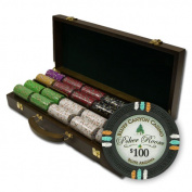 Brybelly Holdings PCS-3303W 500Ct ClaysmithGaming Bluff Canyon Chip Set in Walnut Case