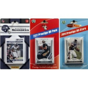 C & I Collectables 2011SEAHAWKSTSC NFL Seattle Seahawks Licenced 2011 Score Team Set With Twelve Card 2011 Prestige All-Star and Quarterback Set