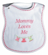 Dee Givens & Co-Raindrops 6061 Mommy Loves Me Girl Medium Bib - Strawberry