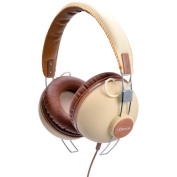 IDANCE HIPSTER701 Cup Headphones with inline Mic - Tan - Brown