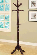Monarch Specialties I 2011 Cherry Traditional Solid Wood Coat Rack