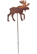 Village Wrought Iron RGS-19 Moose Rusted Garden Stake