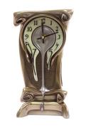 Unicorn Studios BD08390A4 Melting Warped Clock - Polished Bronze Eggshell Face