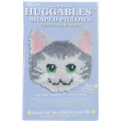 M C G Textiles 400635 Huggables Kitty Pillow Latch Hook Kit-30cm . x 30cm .
