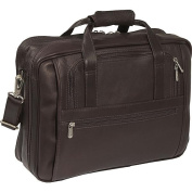 Piel Leather 2930-CHC Large-Ultra Compact Computer Bag - Chocolate