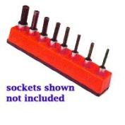 Mechanics Time Saver MTS387 3/8 Inch Drive Universal Magnetic Rocket Red Socket Holder 10-19mm