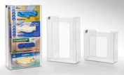 Horizon Manufacturing 5107 4-Box Vertical Stacking Glove Dispensers - Clear Plastic