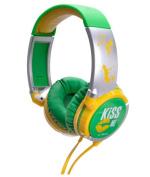 IDANCE KM200 Kiss Me Lightweight Headphones - Green and Yellow