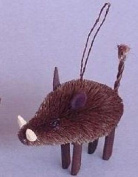 Brushart BRUSHOR54 Javelina Wild Boar Ornament