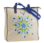 Hadaki by Kalencom 88161754253 Coated Canvas City Tote Jazz Cobalt