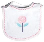 Dee Givens & Co-Raindrops 6059 Flower Ex-small Bib - Pink