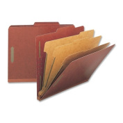 Nature Saver NAT01052 Classification Folders- Letter- 3 Partitions- Red