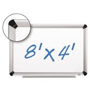 3M Commercial Office Supply Div. MMMP9648FA Dry-Erase Board-Porcelain- 8ft.x4ft.- Aluminium Frame