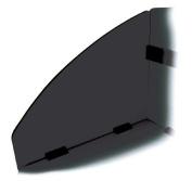 OFM 55151-GRPT Side Privacy Panel Set for 55103-55139 - Graphite & Black