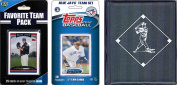 C & I Collectables 2012JAYSTSC MLB Toronto Blue Jays Licenced 2012 Topps Team Set and Favourite Player Trading Cards Plus Storage Album